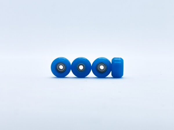 Product picture of blue fingerboard bearing wheels