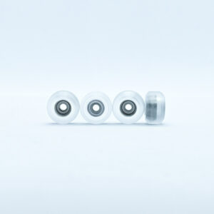 Product picture of clear fingerboard bearing wheels with bearings