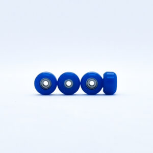 Product picture of dark blue fingerboard wheels with bearings