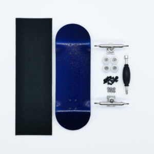 Product picture of blue wooden fingerboard complete