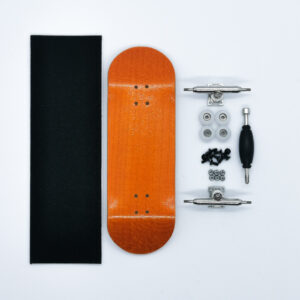 Product picture of orange wooden fingerboard complete