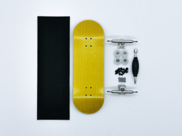 Product picture of yellow wooden fingerboard complete